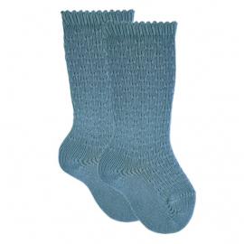 Cóndor Kniekous Micro Pattern 2597/2 Stone Blue (435)