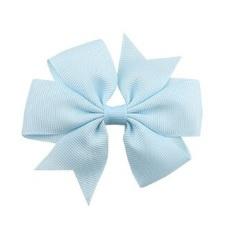 Haarclips Vlinderstrik Licht Blauw 8cm (2st)