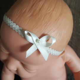 Haarband strik parel