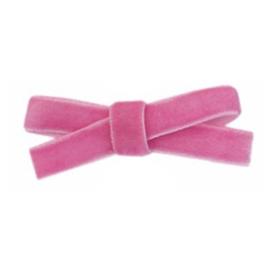 Haarclips Mini Strikjes Velvet Roze (2st)