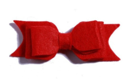 Haarclips Vilten Strik Rood (2st)