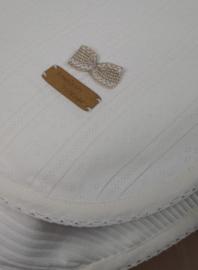 Ajour deken, ivoor 75 x 100 cm, zomer
