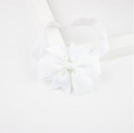Haarband Vlinderstrik Wit