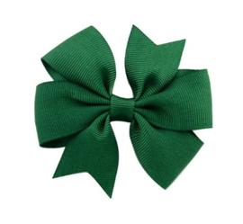 Haarclips Vlinderstrik Groen 8cm (2st)