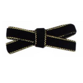 Haarclips Mini Strikjes Velvet Zwart (2st)