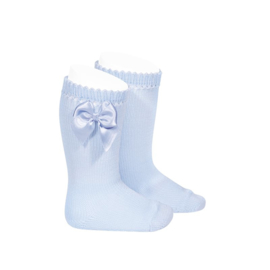 Cóndor Kniekous Cotton Strik 2551/2 Baby Blauw (410)