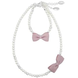 Rian Off White Parel-Sieraden Ribbon Strik AK202 Pale Pink (526)