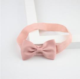 Haarband Strik Oud Roze