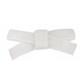 Haarclips Mini Strikjes Velvet Wit (2st)