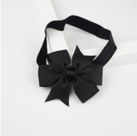 Haarband Vlinderstrik Zwart