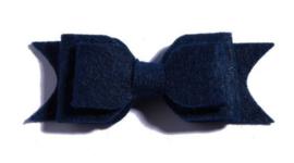 Haarclips Vilten Strik Navy (2st)