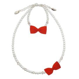 Rian Witte Parel-Sieraden Ribbon Strik AK218 Red (550)
