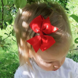 Haarclips Vlinderstrik Rood 8cm (2st)