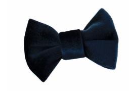 Haarclips Velvet Strik Navy 7cm (2st)