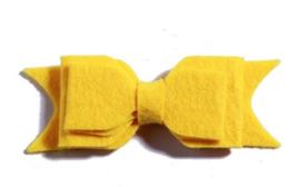 Haarclips Vilten Strik Geel (2st)