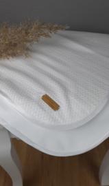 Katoenen deken jacquard, zomer, wit