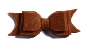 Haarclips Vilten Strik Cognac (2st)