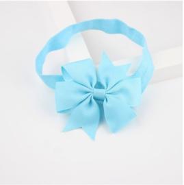Haarband Vlinderstrik Licht Blauw