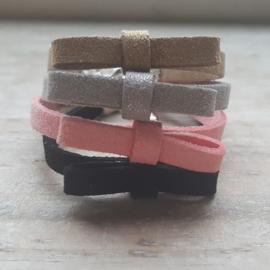 Armband leren strik