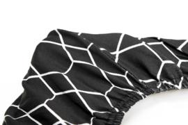 Briljant Baby aankleedkussenhoes GRID BLACK