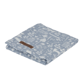 Little Dutch swaddle Adventure blue 120 x 120 cm