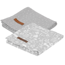 Little Dutch swaddle doek Adventure grey (2-pack)