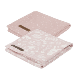 Little Dutch swaddle doek Adventure pink  (2-pack)