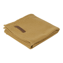 Little Dutch swaddle Pure ochre 120 x 120 cm