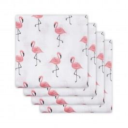 Jollein hydrofiel luier Flamingo 4-pack  65 x 65cm