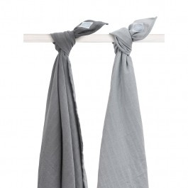 Jollein hydrofiel multidoek Duo gray 2-pack  115 x 115 cm