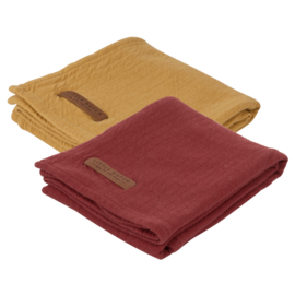 Little Dutch swaddle doek Pure indian red & ochre (2-pack)