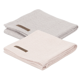 Little Dutch swaddle doek  pink & mauve waves (2-pack)