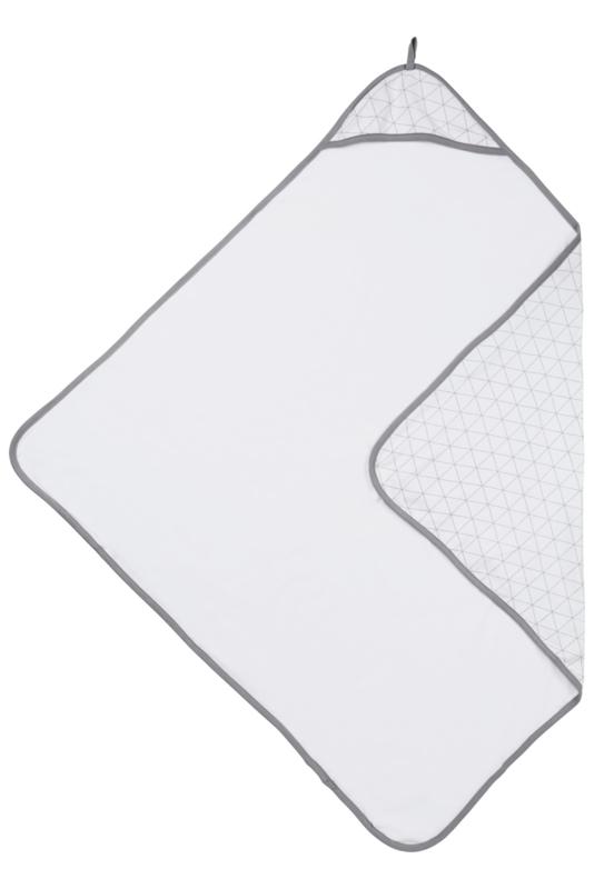 Meyco badcape triangle grijs