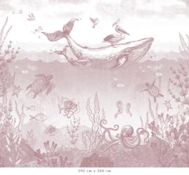 Walviswereld   oudroze