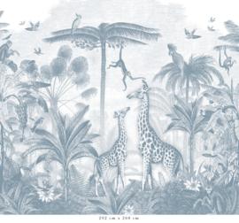 Giraf & slingeraapjes | blauw
