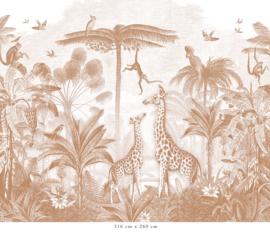 Giraf & slingeraapjes   terracotta