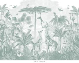 Giraf & slingeraapjes | zeegroen