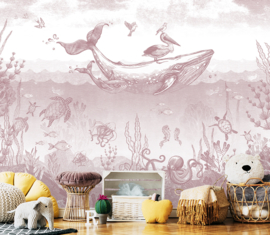 Whale World antique pink