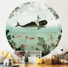 Whale & Polar Bear - wallpaper circle