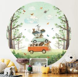 Car Tower - wallpaper circle