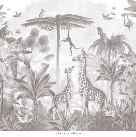 Giraf & slingeraapjes   potloodgrijs