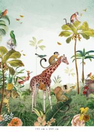 Jungle parade voor Ellen | 370b x 240h cm