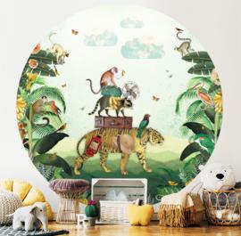 Tiger in the Jungle - wallpaper circle