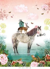 Sprookjespaard voor Lisa | 305b x 460h cm