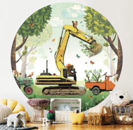 Digger - wallpaper circle