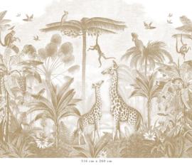 Giraf & slingeraapjes | mosterd