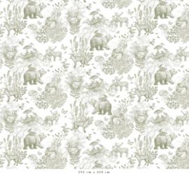 Pattern Forest Animals green