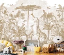 Giraf & slingeraapjes mosterd