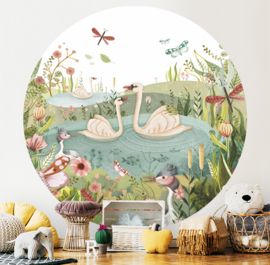 Swan Lake - wallpaper circle