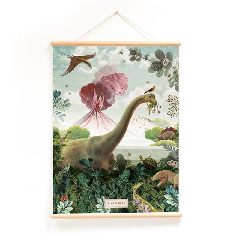 Schoolplaat Bij de Dino's
